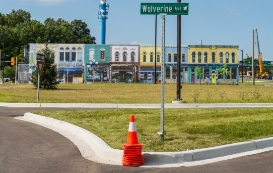 Mcity is the world's first controlled environment to test self-driving cars -image courtesy of the University of Michigan.