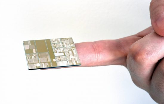 A 7nm test chip developed by IBM. Image courtesy of IBM Research.