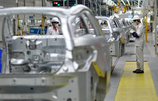 A Peugeot production line in Shenzhen, China. Image courtesy of Peugeot Citroen.