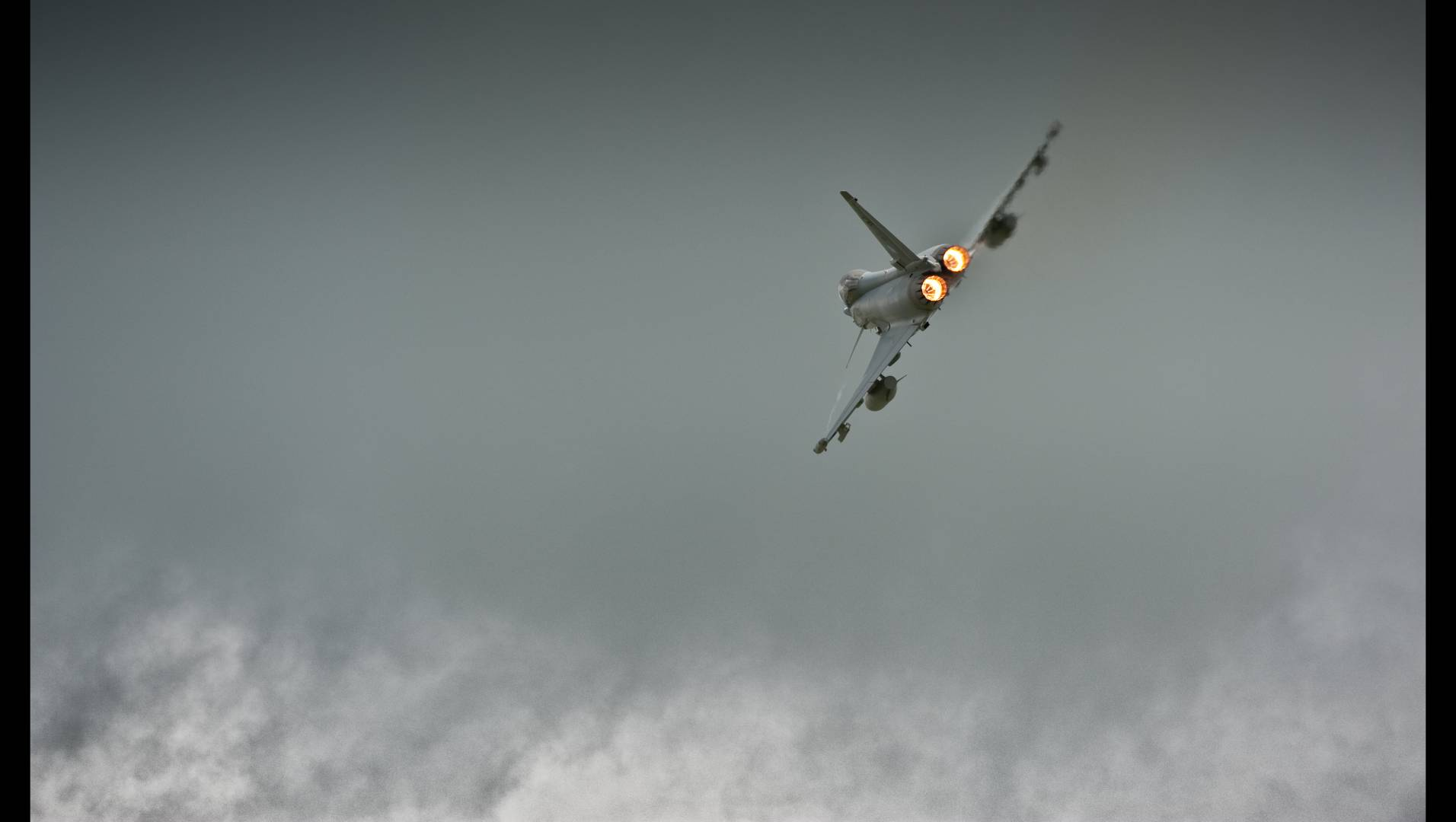 BAE Systems Typhoon in the air – aerospace is the UK defence industry's largest exporter.