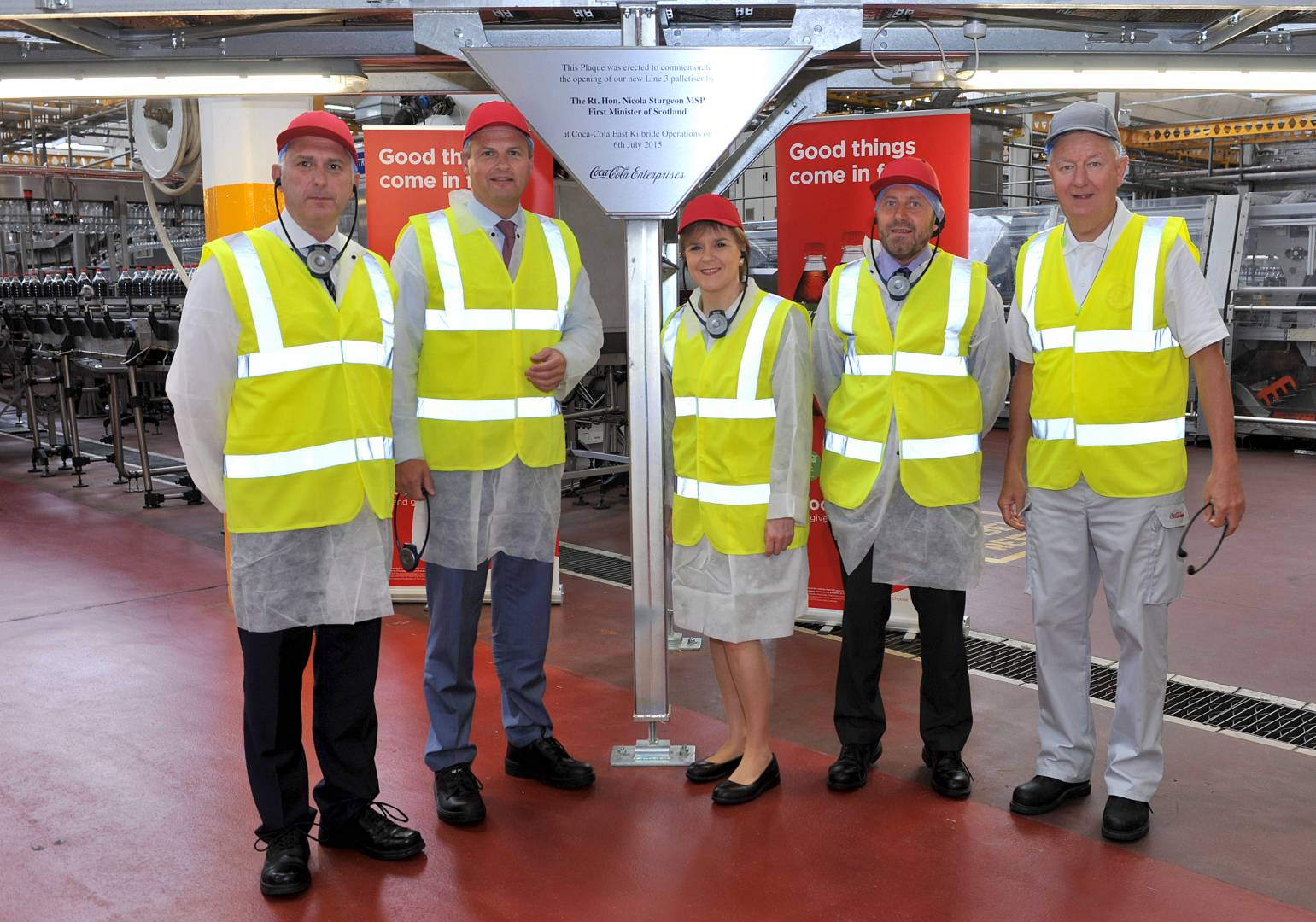 During her tour, First Minister Nicola Sturgeon Sturgeon was shown part of the latest £6m injection in action