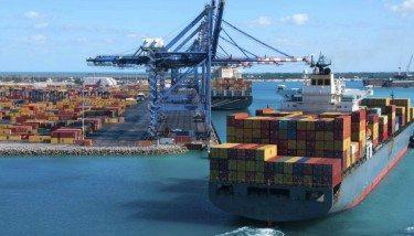 Cargo Ship Docks Exports Crane Export