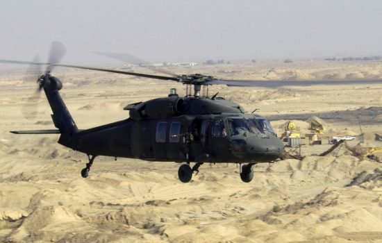 A Black Hawk helicopter, Sikorskys most well known product. Image courtesy of Wikipedia Commons.