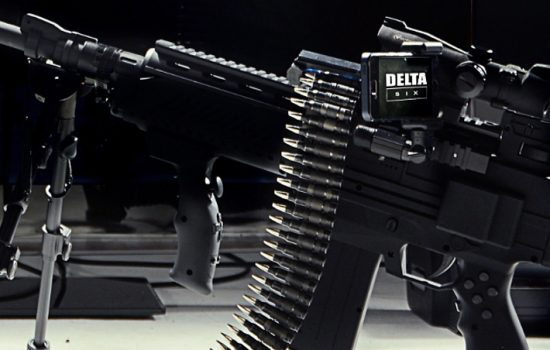 The so-called world's most realistic video game gun has unveiled new features but opponents aren't impressed - image courtesy of PRNewsFoto and The Delta Six.