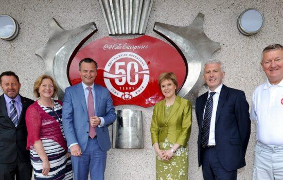 Coca-Cola Enterprises - East Kilbride 50th anniversary plaque