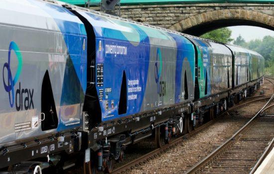 Drax biomass rail freight wagon