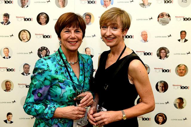 Margaret Wood (L) at The Manufacturer Top 100 2014.