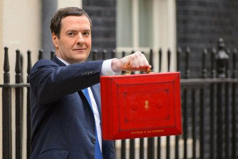 Chancellor George Osborne Budget Red Briefcase