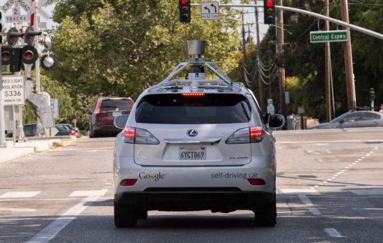 Google self-driving Lexus RX450h SUV takes to the streets - image courtesy of Google