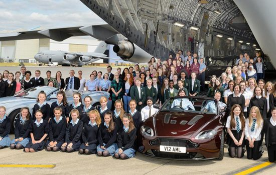 Aston Martin has teamed up with the Royal Air Force, to attract the next generation of women into engineering roles in both organisations - image courtesy of Aston Martin