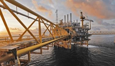 Off Shore Oil Rig Platform