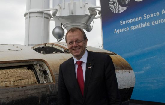 The European Space Agency's (ESA) new Director General, Johann-Dietrich Woerner.