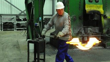 Kimber Drop Forgings employee working with new forge.