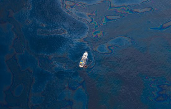The 2010 spill lasted 87 days and dumped more than 4 million barrels of oil into the Gulf of Mexico - image courtesy of Wikicommons.