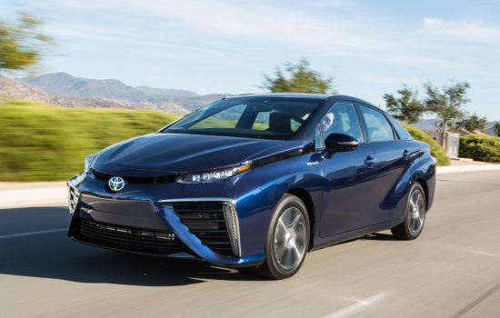 The Toyota Mirai, the company's first ever commercial FCV. Image courtesy of Toyota.