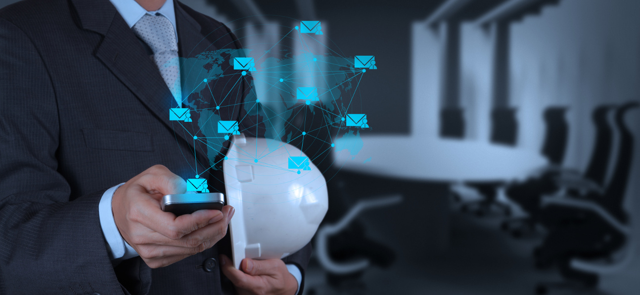 businessman hand use smart phone computer as concept