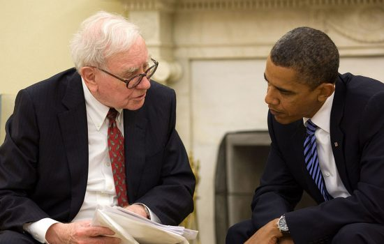 President Barack Obama and Warren Buffett in the Oval Office, July 14, 2010 - image courtesy of Pete Souza - httpwww.flickr.comphotoswhitehouse4793199789. Licensed under Public Domain via Wikimedia Commons - httpscommons.wikime