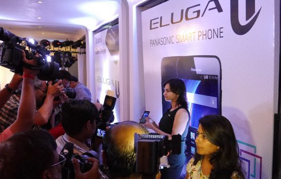 Panasonic displaying its Eluga smartphone in India - image courtesy of Panasonic.