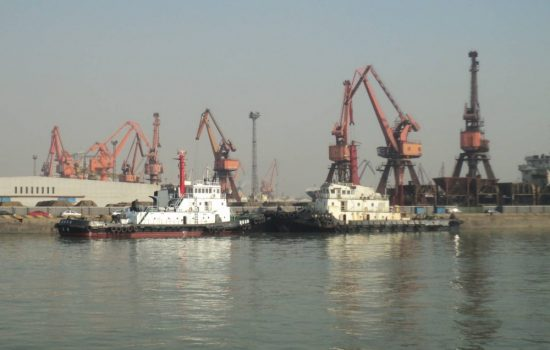 Tianjin Port, prior to the explosions which caused significant damage. Image courtesy of Wikipedia Commons.