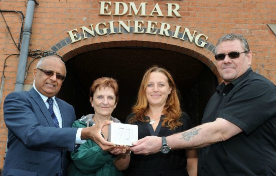 (L to R) Jas Bahra (Business Growth Service); Sue Taylor, Anna Hayton and Richard Dale (Edmar Engineering).