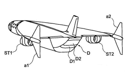An image taken from the Airbus' 'Ultra-rapid air vehicle and related method of aerial locomotion' patent
