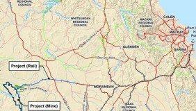 The location of the Carmichael mine - image courtesy of Adani Mining.