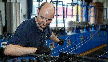 Alloy Wire's Stuart Hardwick - wire annealing technician.