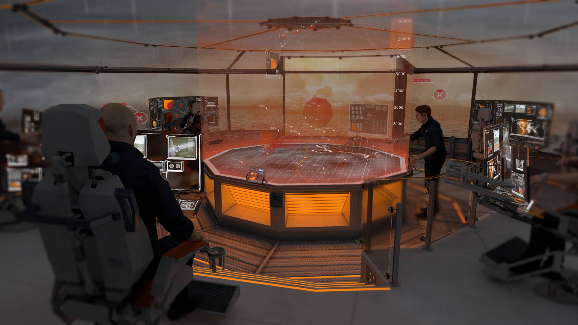 Startpoint Dreadnought T2050 Warship Ops Room (image courtesy of Startpoint).