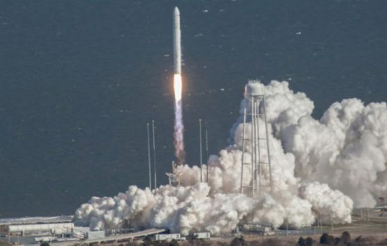 Orbital ATK's medium-class space launch vehicle, Antares (image courtesy of Orbital ATK).