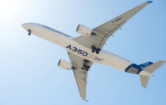 Parts for many Airbus passenger jets are manufactured in India. Image courtesy of Airbus.