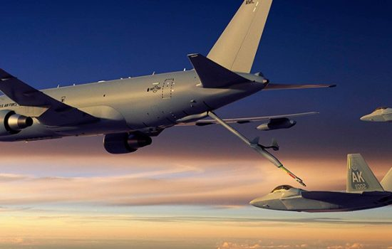 The Boeing KC-46a Pegasus tanker aircraft. Image courtesy of Boeing.