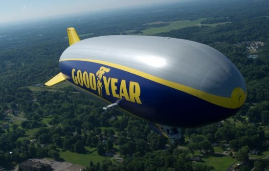 The Goodyear Tire & Rubber Company's newest blimp, Wingfoot One. Image courtesy of Goodyear.