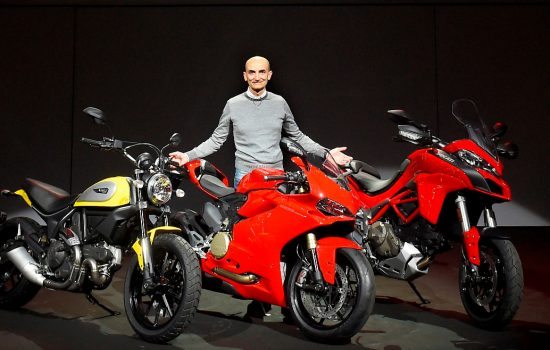 Claudio Domenicali, CEO Ducati Motor Holding Ducati Scrambler, 1299 Panigale, Multistrada 120 - image courtesy of Ducati
