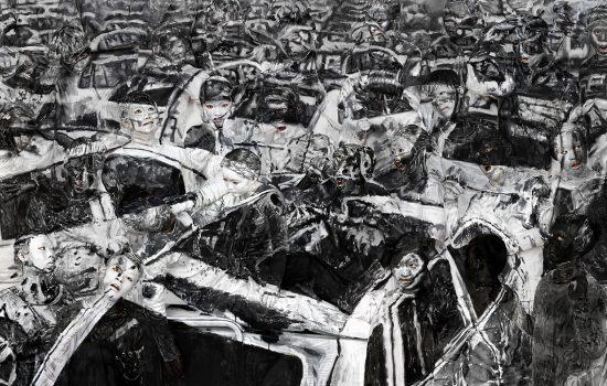 Artisit, Liu Bolin's depiction of the Tianjin disaster - image courtesy of Liu Bolin and the Kleinsun Gallery.
