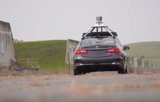 Honda tests an autonomous vehicle at GoMentum Station. Image courtesy of Honda.