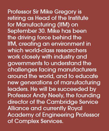 Professor Sir Mike Gregory