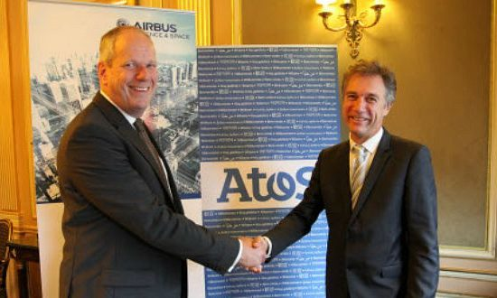 Airbus' Evert Dudok and Atos' Philippe Vannier.