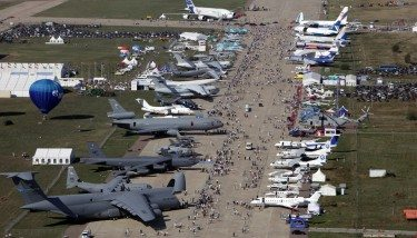 An aerial photo of the MAKS Russian airshow which took place near Moscow from August 25-30 - image courtesy of MAKS.