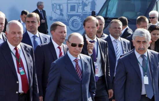 Vladimir Putin attending the MAKS 2015 aerospace show in Russia - image courtesy of MAKS.