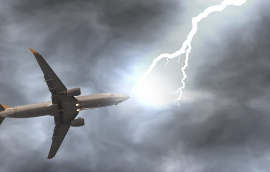 Although lightning strikes are rarely the primary cause of accidents, they can cause costly delays and service interruptions - image courtesy of DFC.