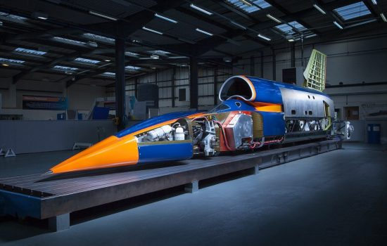 Bloodhound SSC is presented in record attempt configuration, with its 2m-high tail fin in place for the first time.