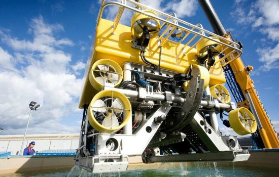 SMD remotely operated underwater vehicle (image courtesy of SMD Facebook).