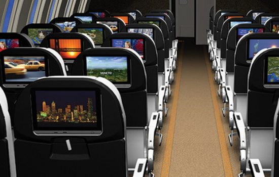 Rockwell Collins' Paves on-demand In-Flight Entertainment system is being offered on Airbus A320 flights, as airlines look to be the leaders of in-flight entertainment - image courtesy of Rockwell Collins