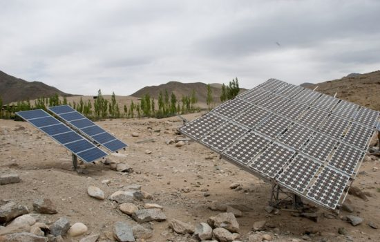 Solar panels in Northern India. Image courtesy of Kiran Jonnalagadda.