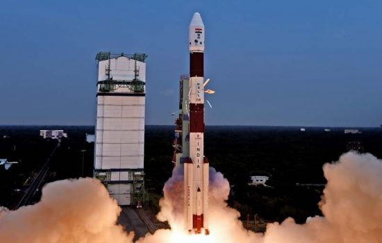 The Astrosat spacecraft is launched into orbit. Image courtesy of ISRO.