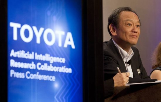Toyota Senior Managing Officer Kiyotaka Ise announces the new research investment. Image courtesy of Toyota