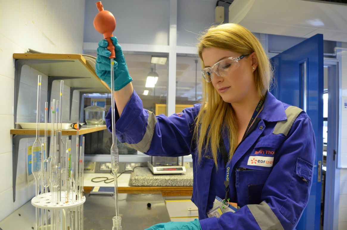 Bethany Thomas (aged 23), reactor chemistry engineer at EDF Energy.