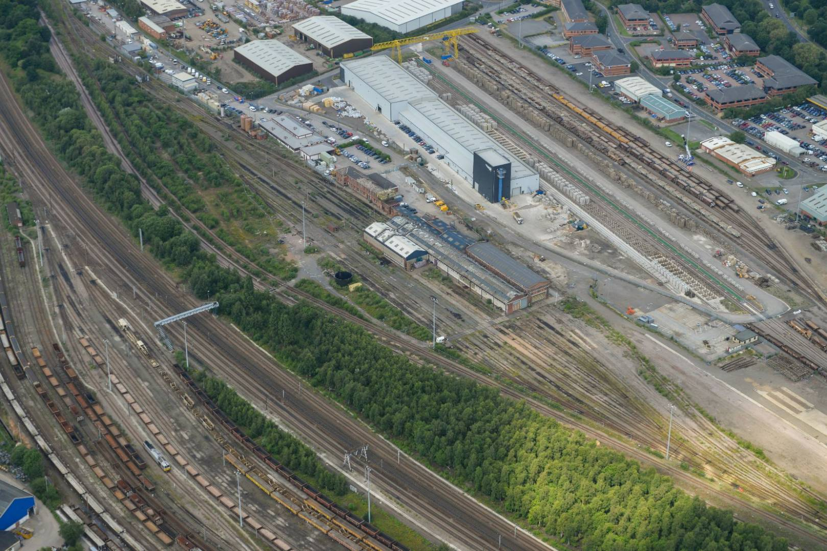 Hitachi's Super Express trains will ultimately be assembled at a new plant in Newton Aycliffe, Co Durham, and maintained at major centres at Doncaster Carr, Co Durham (pictured, under construction) and Stoke