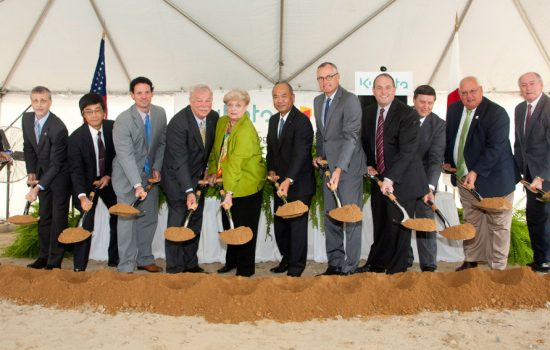 KMA's groundbreaking was attended by local and state officials, including Georgia's Lt. Gov. Casey Cagle, along with Kubota executives and employees - image courtesy of KMA.