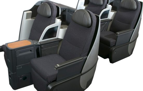 The B/E Aerospace Diamond family of aircraft cabin seats - image courtesy of B/E Aerospace.